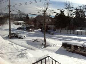 Snow in Staten Island, NY