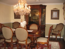 Formal Dining Room with schonbek chandelier