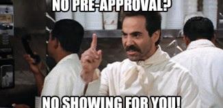 No pre approval