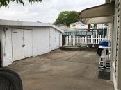 Backyard with storage