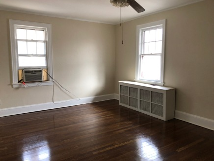 Apartment with hardwood floors